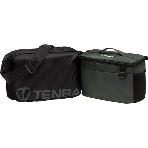 Tenba BYOB/Packlite 9 Flatpack Bundle with Insert and Packlite Bag (Black and Gray)