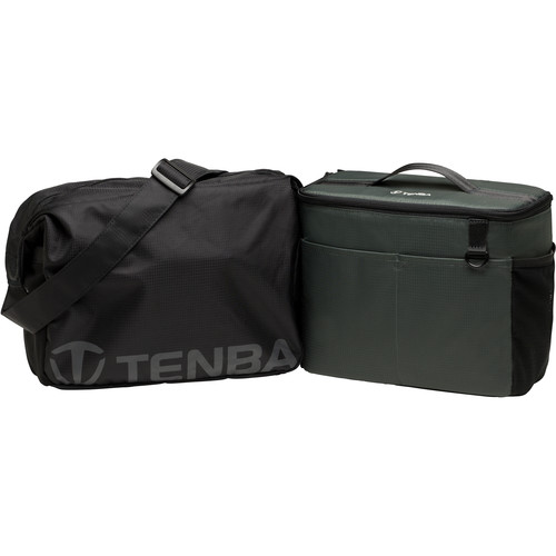 Tenba BYOB/Packlite 10 Flatpack Bundle with Insert and Packlite Bag (Black and Gray)