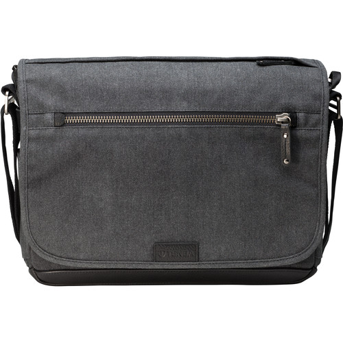 Tenba Cooper Luxury Canvas 13 Slim Camera Bag with Leather Accents (Gray)