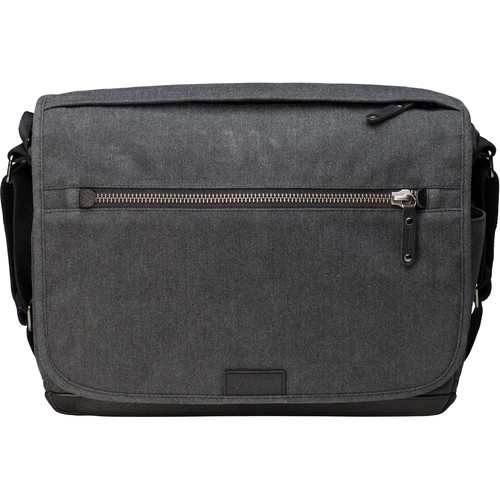 Tenba Cooper 13 DSLR Messenger Bag with Leather Accents (Gray)