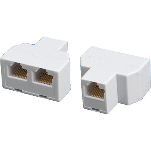 Tera Grand 8P/8C RJ45 Female to 2 RJ45 Female Modular T-Adapter (White)