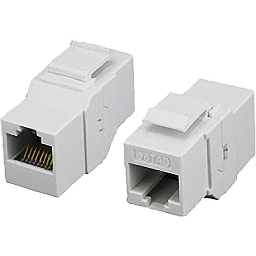 Tera Grand CAT5e Inline Coupler Feed-Through Keystone Adapter (White)