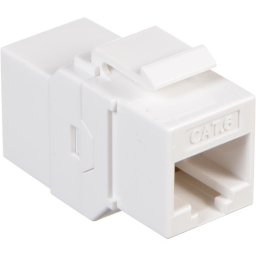 Tera Grand CAT6 Inline Coupler Feed-Through Keystone Adapter (White)