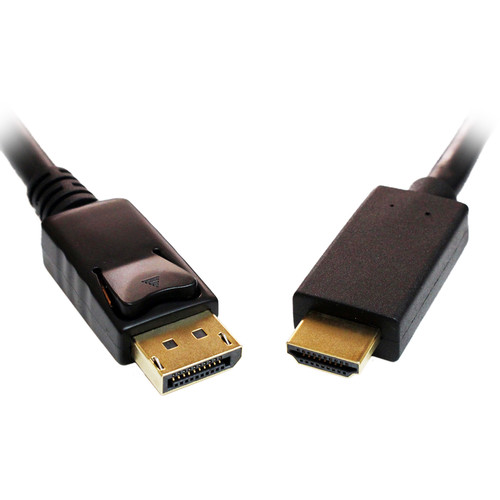 Tera Grand DisplayPort Male to HDMI Male Cable (10')
