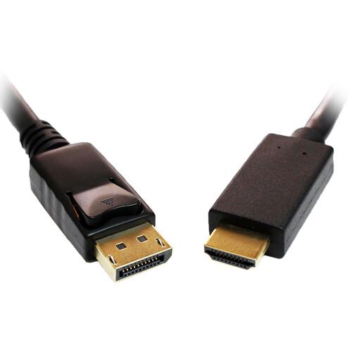 Tera Grand DisplayPort Male to HDMI Male Cable (15')