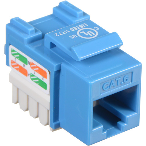 Tera Grand CAT6 Punch-Down Keystone Jack (Blue)