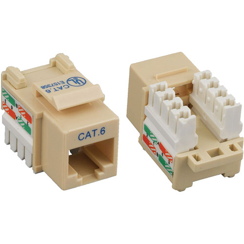 Tera Grand CAT6 Punch-Down Keystone Jack (Ivory)