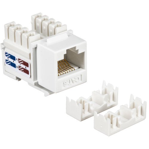 Tera Grand CAT6 Punch-Down Keystone Jack (White)