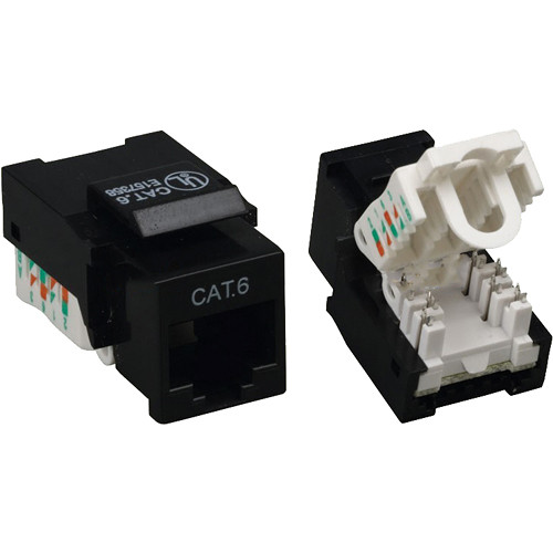 Tera Grand CAT6 Tool-Less Keystone Jack (Black)