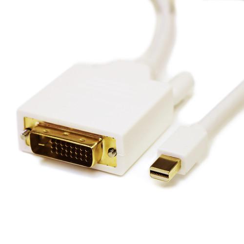 Tera Grand Mini DisplayPort Male to DVI Male Cable (10', White)