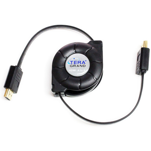 Tera Grand HDMI A Male to HDMI A Male Retractable Cable (4.25')