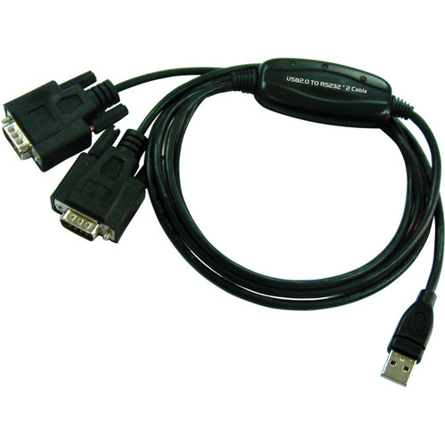 Tera Grand USB 2.0 to 2 x DB9 RS232 Serial Cable