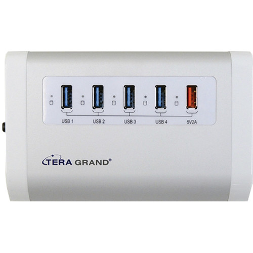 Tera Grand 4-Port USB 3.0 Hub with Charging Port and Power Adapter