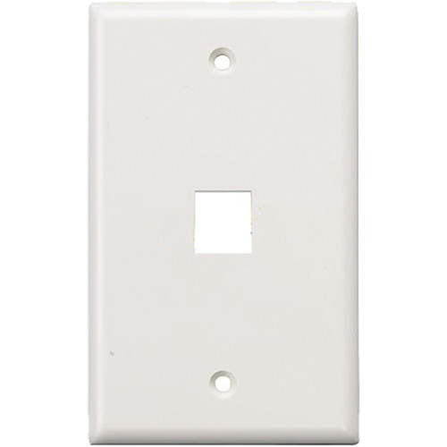Tera Grand Wall Plate for Keystone Insert (1-Hole, White)
