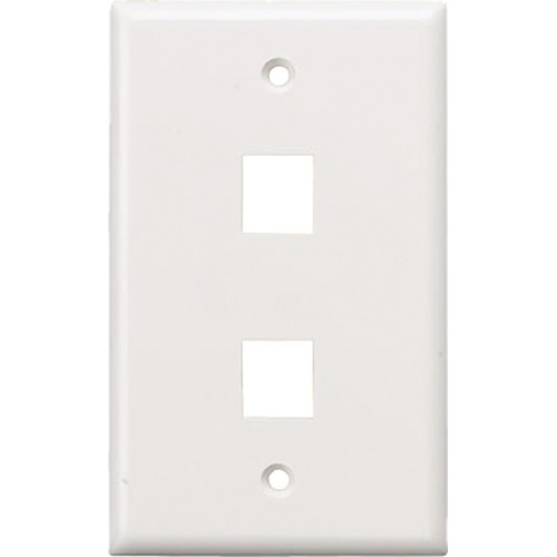 Tera Grand Wall Plate for Keystone Insert (2-Hole, White)