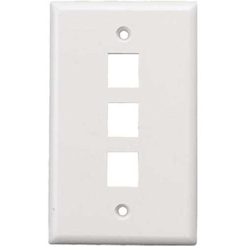 Tera Grand Wall Plate for Keystone Insert (3-Hole, White)