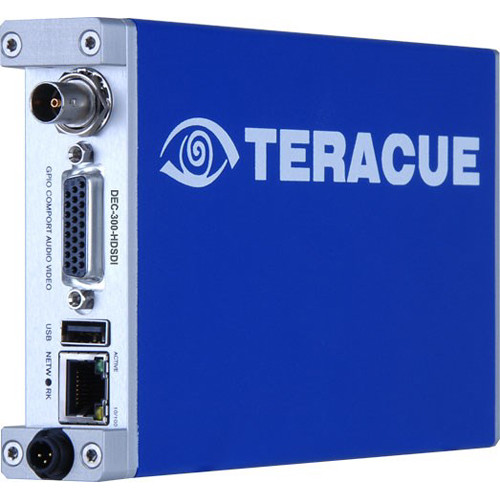 Teracue DEC-300 H.264/MPEG-2 HD/SD Decoder Blade with Embedded Audio and Analog Video/Audio Outputs