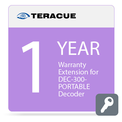 Teracue 1-Year Warranty Extension for DEC-300-PORTABLE Decoder