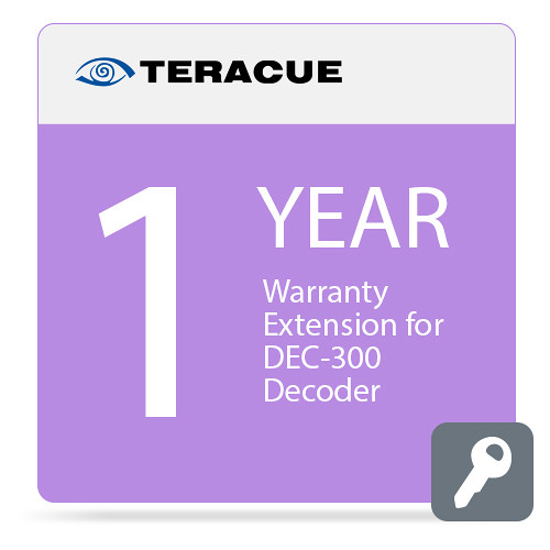 Teracue 1-Year Warranty Extension for DEC-300 Decoder