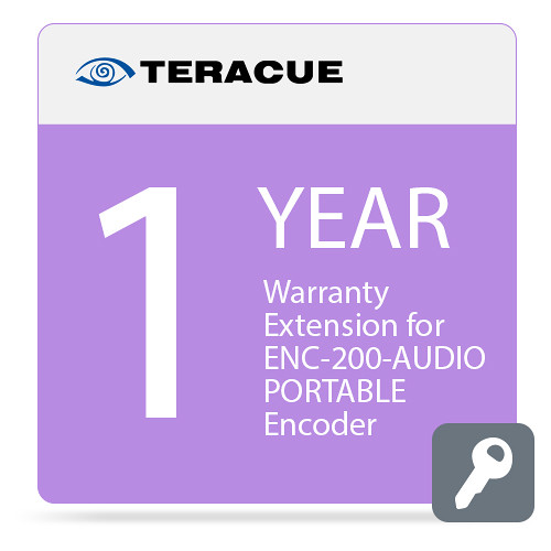 Teracue 1-Year Warranty Extension for ENC-200-AUDIO-PORTABLE Encoder