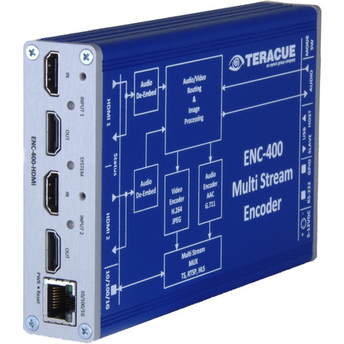 Teracue ENC-400 HD/SD H.264 and MJPEG Portable Encoder with Dual HDMI Input