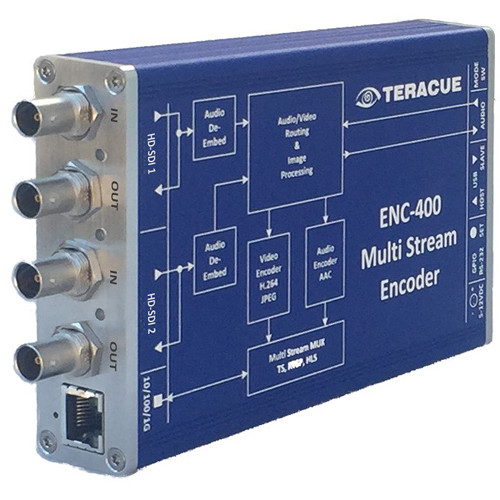 Teracue ENC-400 HD/SD H.264 and MJPEG Portable Encoder with Dual HD-SDI Input