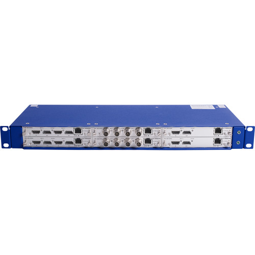 Teracue 6-Slot Rack-Mount Chassis with Redundant Power Supply for ENC-400 Encoder Series (1 RU)