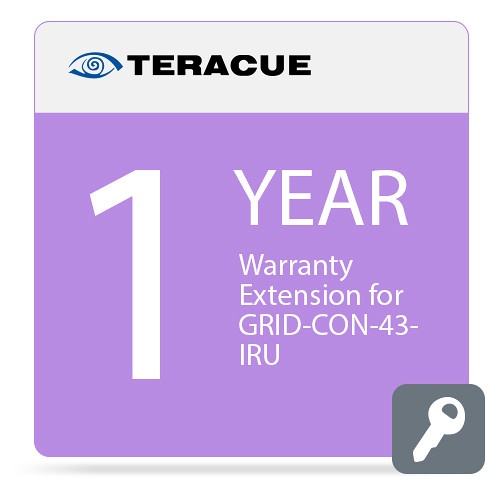 Teracue 1-Year Warranty Extension for GRID-CON-43-IRU Video Wall Controller