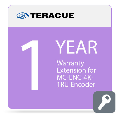 Teracue 1-Year Warranty Extension for MC-ENC-4K-1RU Encoder
