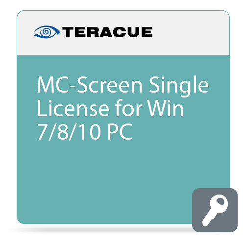 Teracue MC-Screen Universal H.264 Desktop-Encoding Software License for Windows 7/8.1/10/2008/2012 Standard IP Networks