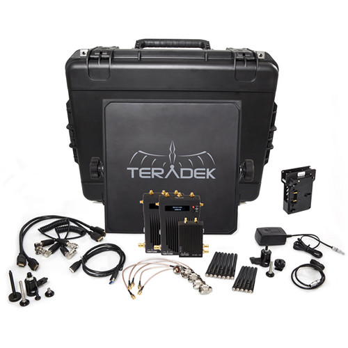 Teradek Bolt 1000 SDI/HDMI Wireless Transmitter & Dual Receiver Deluxe Kit (Gold Mount)