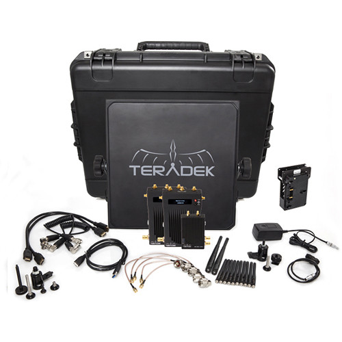 Teradek Bolt 3000 SDI/HDMI Wireless Transmitter & Dual Receiver Deluxe Kit (Gold Mount)