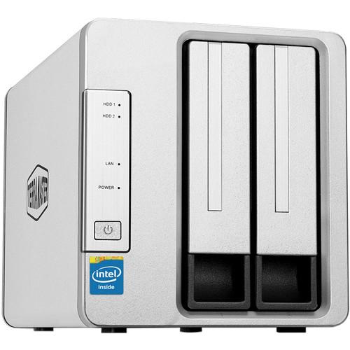 TerraMaster NAS 2-Bay Cloud Storage Intel Quad Core 1.5GHz Plex Media Server Network Storage (without HDD)