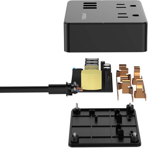 Tessan Portable 2-Outlet Power Strip (Black)