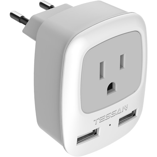 Tessan Type-C Travel Adapter Plug with US Outlet & 2 USB Type-A Ports
