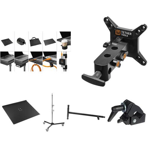 Tether Tools Aero Master Pro Tethering Kit with Rock Solid VESA, Low Boy Roller & Master Side Arm Bundle