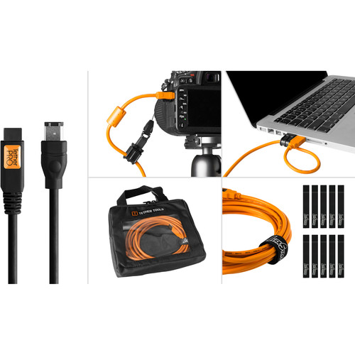 Tether Tools Starter Tethering Kit with FireWire 6-Pin Cable (Black)