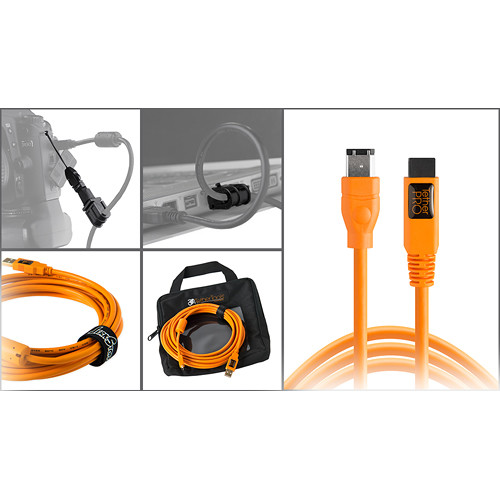Tether Tools Starter Tethering Kit with FireWire 6-Pin Cable (Orange)