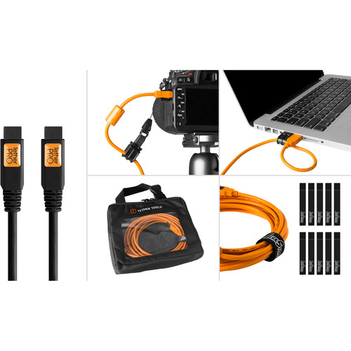 Tether Tools Starter Tethering Kit with FireWire 9-Pin Cable (Black)