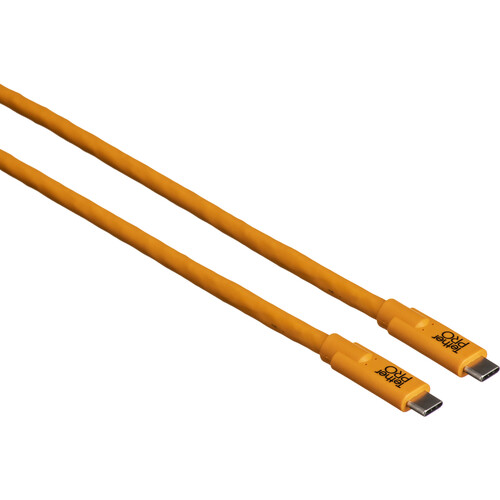 Tether Tools TetherPro USB Type-C Male to USB Type-C Male Cable (10', Orange)