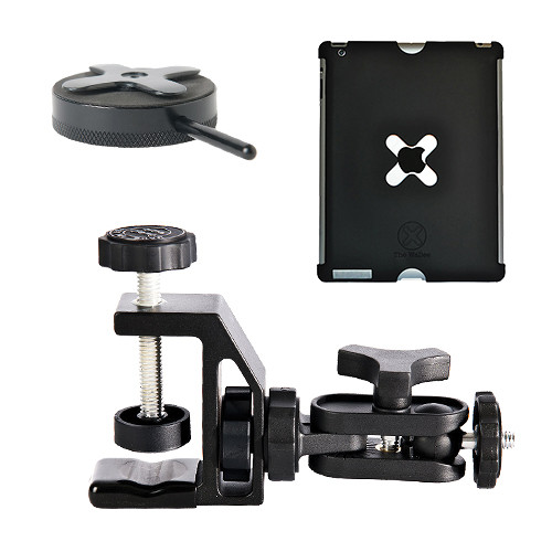 Tether Tools Wallee Case for 2nd Gen iPad, Connect Lite Mounting Bracket and EasyGrip ST Kit (Black)