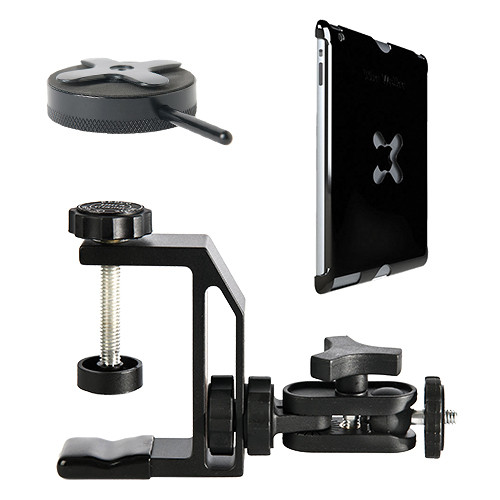 Tether Tools Wallee Case for 2nd Gen iPad, Connect Lite Mounting Bracket and EasyGrip LG Kit (Black)