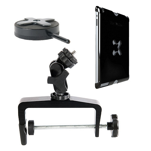 Tether Tools Wallee Case for 2nd Gen iPad, Connect Lite Mounting Bracket and EasyGrip XL Kit (Black)