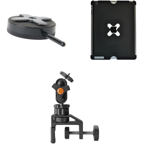 Tether Tools Wallee Case for 3rd/4th Gen iPad, Connect Lite Mounting Bracket and EasyGrip ST Kit (Black)
