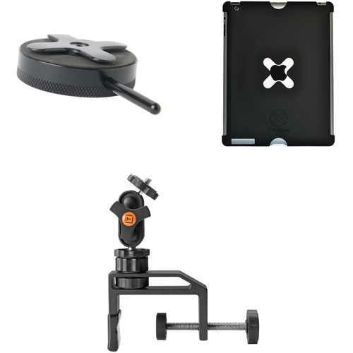 Tether Tools Wallee Case for 3rd/4th Gen iPad, Connect Lite Mounting Bracket and EasyGrip LG Kit (Black)