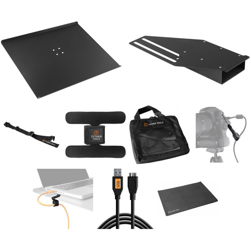 Tether Tools Pro Tethering Kit with Black 15' USB 3.0 SuperSpeed Micro B Cable