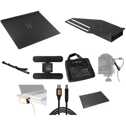 Tether Tools Pro Tethering Kit with 15' Black SuperSpeed USB 3.0 Male A to Male B Cable