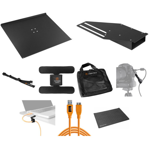 Tether Tools Pro Tethering Kit with Orange 15' USB 3.0 SuperSpeed Micro B Cable