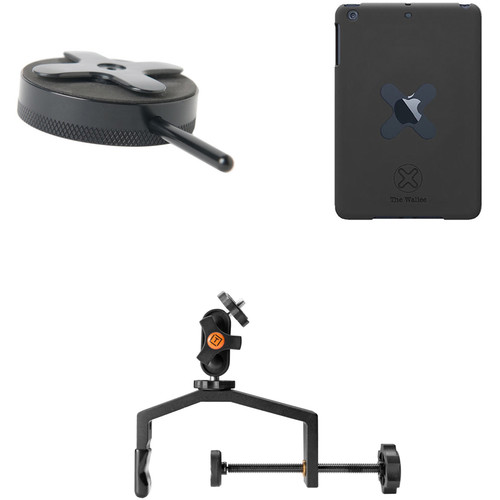 Tether Tools Wallee Case for iPad mini, Connect Lite Mounting Bracket and EasyGrip XL Kit (Black)