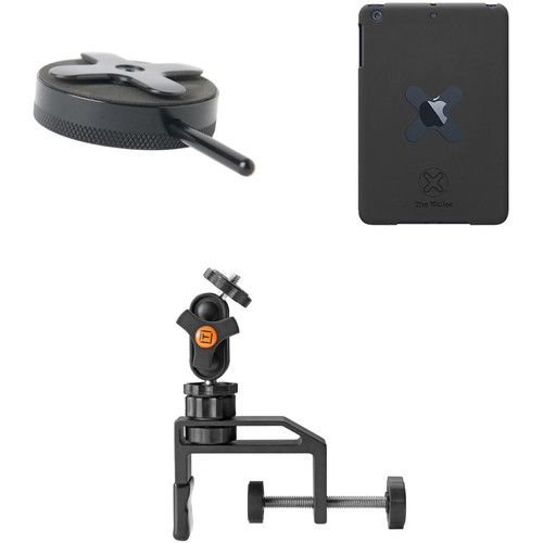 Tether Tools Wallee Case for iPad mini, Connect Lite Mounting Bracket and EasyGrip LG Kit (Black)